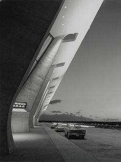 Dulles International Airport Terminal, Chantilly, Virginia, circa 1963.