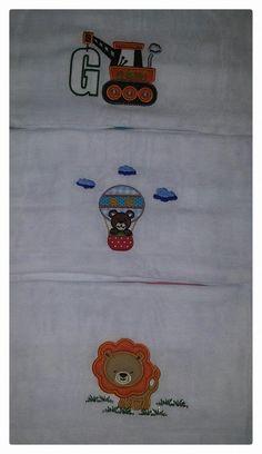 fralda com aplicação de tecido
