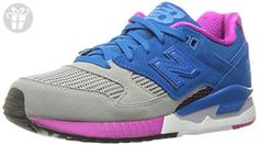New Balance Women's W530 Classic Running Fashion Sneaker, Grey/Sonar Blue/Azalea, 5 B US (*Amazon Partner-Link)