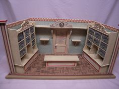 antique miniature room box store.