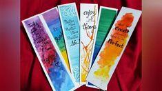 Creative Bookmarks, How To Make Bookmarks, Diy Bookmarks, Mandala Book, Mandala Drawing, Watercolor Books, Watercolor Bookmarks, Vintage Bookmarks, Calligraphy Video
