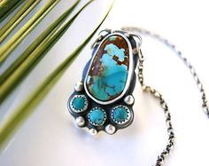 Paradise Rising - Turquoise Sterling Silver Necklace