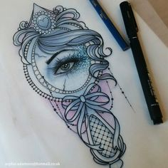"3f236ba12 sophie adamson on Instagram: ""This hand mirror design is up for grabs 😊 A  deposit reserves it, get in touch 😀😚 #tattoo #design #art #mirrortattoo  ..."