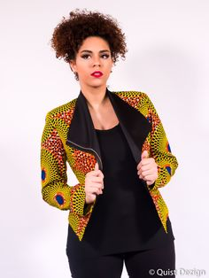 Latest collection of the best and trendy ankara jackets and ankara blazers styles there are out there. DO you love ankara blazers and jackets styles. African Inspired Fashion, Latest African Fashion Dresses, African Print Dresses, African Dresses For Women, African Print Fashion, African Wear, African Attire, Africa Fashion, Ankara Peplum Tops