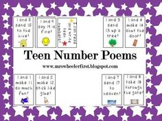 'Teen Number Poems'