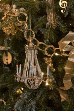 chandelier ornament for the tree … this ornament has been hanging on our tree for at least 20 years!