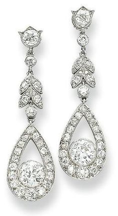 Earrings  1910  Christie's  GOOD GOD these are beautiful