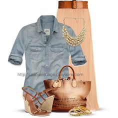 A fashion look from May 2013 featuring Hollister Co. blouses, Chloé skirts and Burberry sandals. Browse and shop related looks.