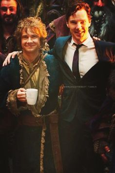 Benedict Cumberbatch and Martin Freeman. <3