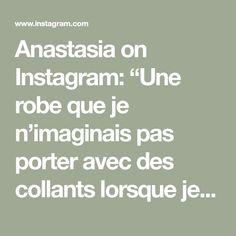 """Anastasia on Instagram: """"Une robe que je n'imaginais pas porter avec des collants lorsque je l'ai acheté cet Été mais qui rend plutôt pas mal pour le début de…"""" Anastasia, Tunics, Math Equations, Instagram, Tights, Dress, Tunic"""