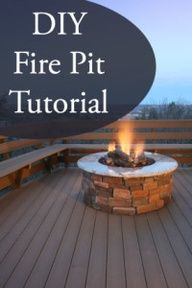 DIY Fire Pit for the deck