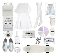 """""""New Americana, Halsey."""" by screamolullabies ❤ liked on Polyvore featuring Urbanears, Dries Van Noten, CASSETTE, Freestyle Shark, T By Alexander Wang, Topshop, Chantal Thomass and Essie"""
