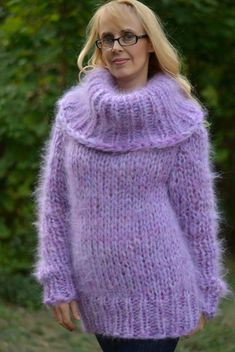 Laine Chunky, Pull Mohair, Jumper, Angora, Thick Sweaters, Mohair Sweater, Blanket Scarf, Knit Patterns, Hand Knitting