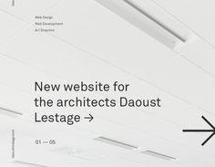 """Popatrz na ten projekt w @Behance: """"Daoust Lestage Website"""" https://www.behance.net/gallery/52472961/Daoust-Lestage-Website"""