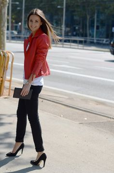 red leather jacket... yes, please!