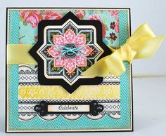 JustRite card designed by Eva Dobilas using Starburst Medallion Dies and Classic Scallop Borders One Clear Stamps.