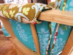 reupholstering nursery rocker tutorial Baby Glider, Glider Chair, Chair Cushions, Pillows, Nursery Inspiration, Nursery Ideas, Furniture Makeover, Furniture Ideas, Grant Mitchell