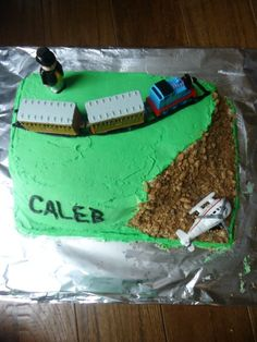 Thomas the Train birthday cake isn't perfect, but there is a reason why I bake my child's birthday cakes. They love it.