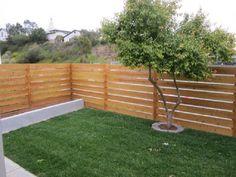 Beautify The Minimalist Living With Horizontal Wood Fence: Horizontal Cedar Wood Fence ~ lanewstalk.com Outdoor Ideas Inspiration
