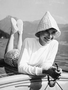"""wehadfacesthen: """" Audrey Hepburn, Italy, 1955 """""""