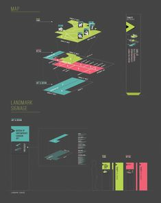 exploded wayfinding map http://designspiration.net/image/1489350068563/