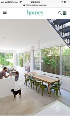 A semi-detached cottage in Sydney's Eastern Suburbs is given a crisp & contemporary makeover. Kitchen Living, Living Room, Big Windows, Semi Detached, Dining Table, Cottage, House Design, Contemporary, Building