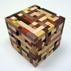Puzzle Box - simple design and patience (and left overs), could be used to make anything your heart desires in a random pattern