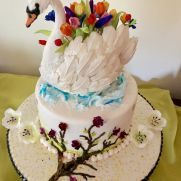 A place for people who love cake decorating. Bird Cakes, Love Cake, Swan, Cake Decorating, Desserts, Food, Tailgate Desserts, Swans, Deserts