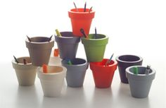 Vase Three Planters by Serralunga is the small Round pot of the Vase series. The pot Three small Pot Planter is made from linear low-density polyethylene achieved by rotational moulding.