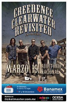 Creedence Clearwater Revisited, 19 de marzo, Auditorio Nacional #CreedenceMx