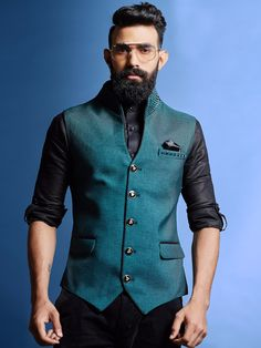 Shop Mens Nehru Jackets 2020 @ best prices from Fashion. Latest Designer Mens Waistcoat collections 2020 for Engagement, Reception, Wedding & Party wear. Nehru Jacket For Men, Nehru Jackets, Kurta Men, Mens Sherwani, Wedding Dresses Men Indian, Wedding Dress Men, Indian Men Fashion, Mens Fashion Suits, Men's Waistcoat