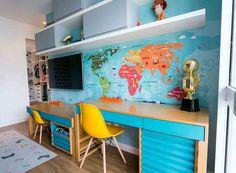 Study Table Designs, Study Room Design, Study Room Decor, Kids Room Design, Home Design Decor, Home Decor Styles, Home Interior Design, Kids Bedroom Furniture, Home Decor Furniture
