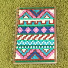 Notebook cover hama beads by  eline0402