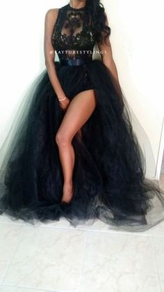 6d05f9af6e0 black embroidery lace sheer tunic   full tulle ball gown dress ...