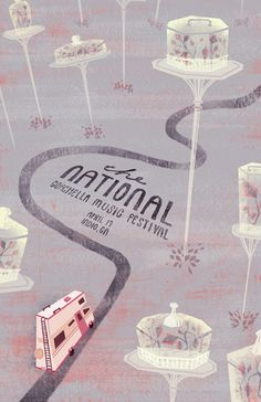The National Coachella poster by Ivy Tai