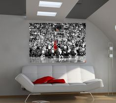 Michael Jordan Nba Superstar The Last Shot 36x24 Poster Art Print  Free Shipping #UrbanArt