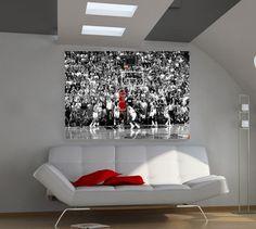 Michael Jordan Nba Superstar The Last Shot 36x24 Poster Art Print  Free Shipping #UrbanArt