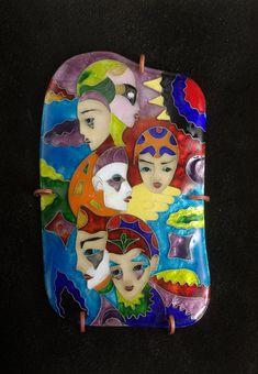 DE ENVÍO GRATIS.  esmalte cloisonné de plata, imagen del esmalte, esmalte de máscaras de Venecia, imagen de la mascarada del esmalte, hecho a mano