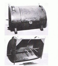 Colonial America: tin roasting oven... 1790's, but could have been used as early as 1729
