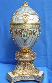 (1) FABERGE eggs__Russian The 'ROYAL Danish' (or Danish Silver Jubilee') made for Tzar Nicholas to