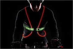 TRACER360 VISIBILITY VEST  Run or cycle with maximum visibility wearing the lightweight 6.5 oz, intelligently illuminated and 3M reflective Tracer360 Visibility Vest...