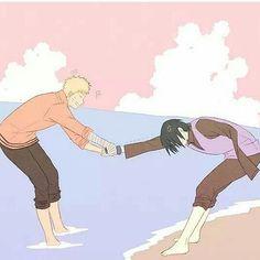 Naruto: Naww c'mon sasuke it's so nice!! Sasuke: let go of me idiot. There is no point. I am not stepping into that water today, tomorrow or any other day. Naruto: (loosens grip) nah, alright (suddenly hauls Sasuke in) *splash* Sasuke: USURATONKACHI!! Naruto: BWAHAHAHAHAHAHAHAHAHAHAHAHAHAHAHAHAHAHAHAHAHAHA!!!!