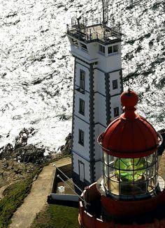 Lighthouses of Iroise. Phares de la Pointe Saint-Mathieu. Finistere Brittany