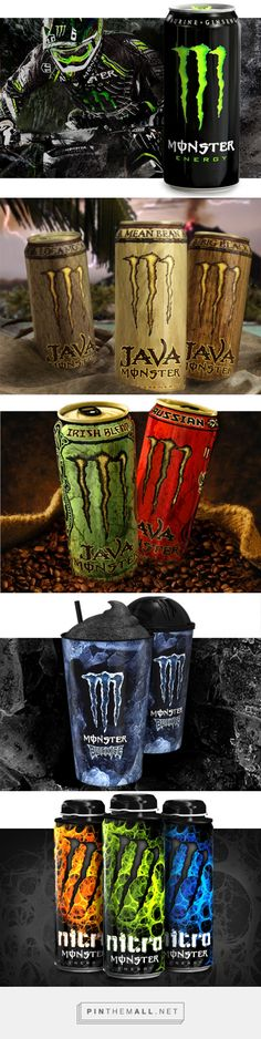 Monster  Energy drink packaging by McLean Design curated by Packaging Diva PD. Monster immediately achieved #2 in the category and within the decade has become a billion-dollar brand.