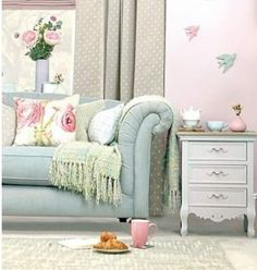Welcome to Dunelm, the UK's leading home furnishing retailers. Shop for bedding, curtains, furniture, beds and mattresses today at Dunelm. Cottage Style Living Room, My Living Room, Living Room Decor, Living Spaces, Pastel Living Room, Pastel Bedroom, Interior Exterior, Interior Design, Pastel Home Decor
