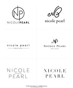 First round concepts for Nicole Pearl - logo design, wordpress theme, mood board inspiration, blog design idea, graphic design, branding