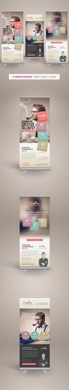Creative Design Agency Roll-up Banners by Kinzi Wij, via Behance
