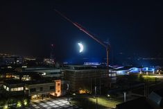 SpY Suspends a Luminous Crescent Moon Over the Swiss EPFL Campus | Inhabitat - Green Design, Innovation, Architecture, Green Building