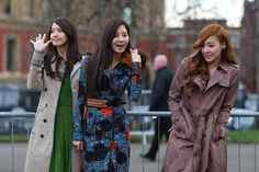 yoona, seohyun and tiffany at F/W Burberry Prorsum Women's Collection Fashion Show 2012 (London-England) #girlsgeneration #shosistyle