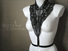 Vanessa harness goth victorian lace collar by BattieClothing